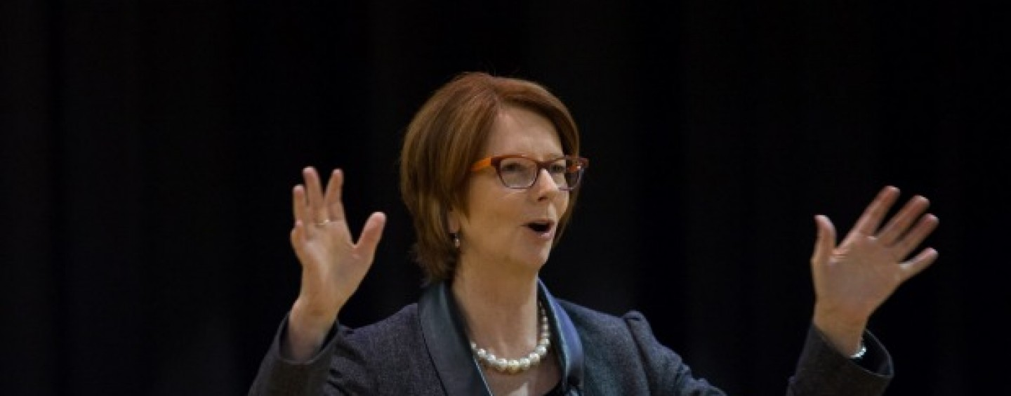 Julia Gillard knifed the budget as well