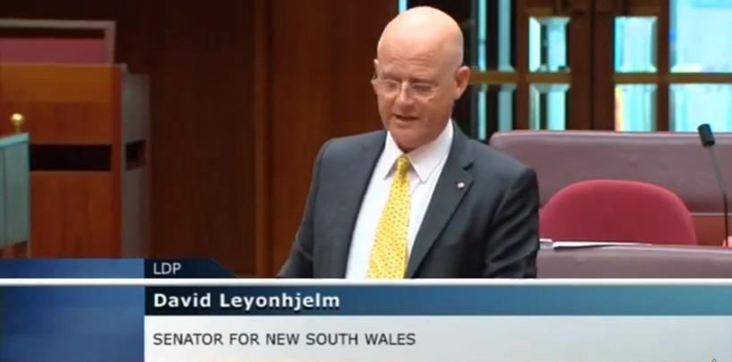 Senator Leyonhjelm on government debt, and continued borrowing.