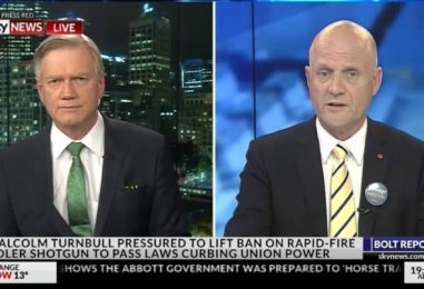 Senator Leyonhjelm talks to Andrew Bolt about the Adler ban