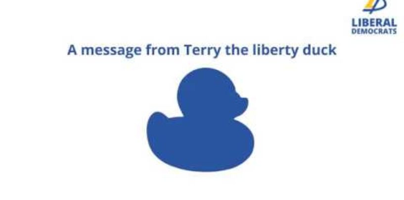 A message from Terry the liberty duck