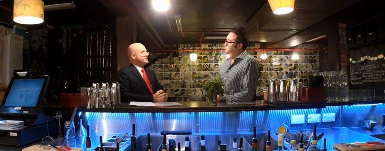 David Leyonhjelm talks red tape at Grasshopper Bar