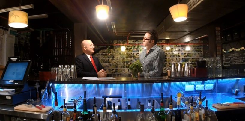 David Leyonhjelm talks red tape at Grasshopper Bar