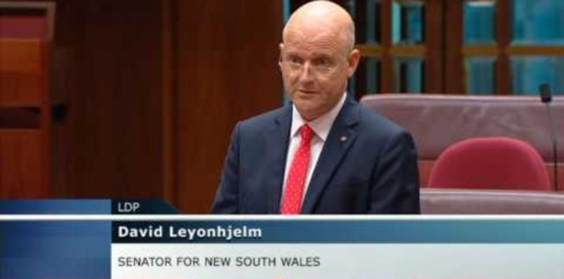David Leyonhjelm on foreign donations to political parties