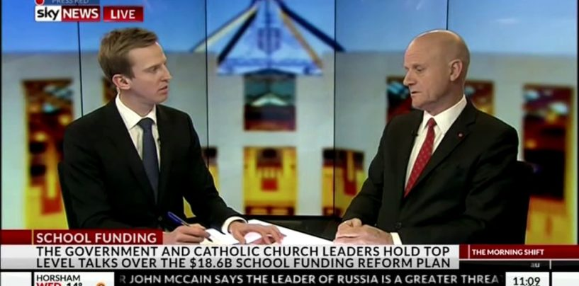 Discussing Catholic School Funding on Sky