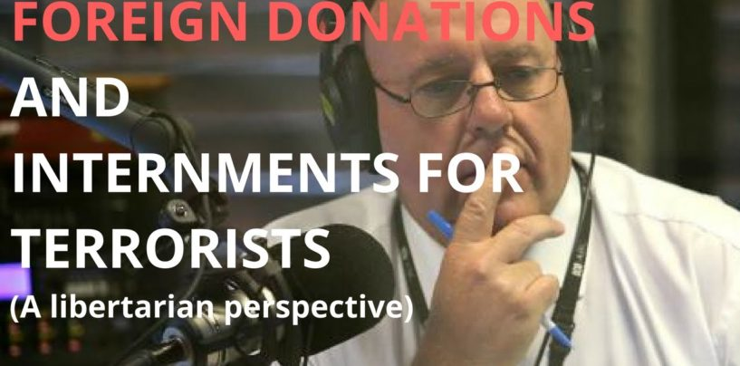 ABC Radio Brisbane: Foreign Donations & Internments for Terrorists